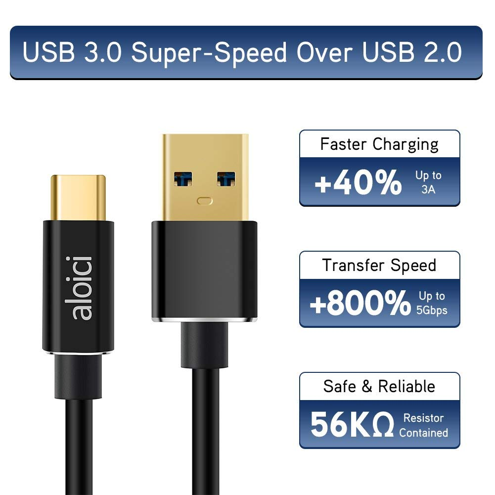 aloici usb c cable type c to usb a 3 0 fast charging cords aloici. Black Bedroom Furniture Sets. Home Design Ideas